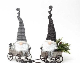 Christmas Gnome Decor.19 Tall Urban Gnome Modern Gnome Black Forest Grey Etsy