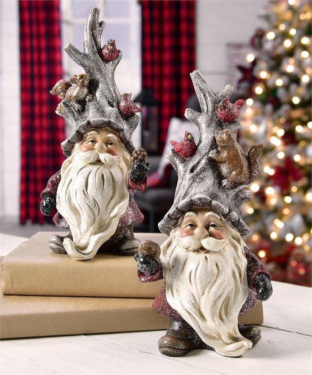 Christmas Statue Decorations: Santa Claus Figurine Saint Nick Statue Christmas Decor