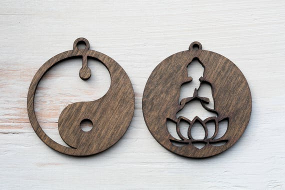 image 0 - Christmas Ornaments Buddha Lotus Yin Yang Ornament Etsy