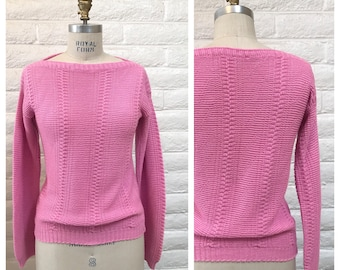 Vintage Pink pullover sweater / Medium