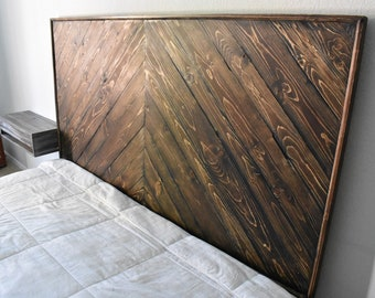 Framed Headboard, Rustic Headboard, King Size Headboard, Wood Headboard, Real Wood Headboard, Custom Wood Headboard