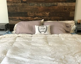 Headboard, Rustic Headboard, King Size Headboard, Wood Headboard, Real Wood Headboard, Custom Wood Headboard