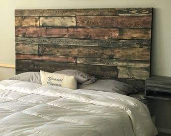 Rustic Headboard, King Size Headboard, Wood Headboard, Real Wood Headboard, Custom Wood Headboard
