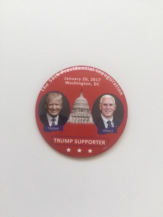 "2016 Donald /& Melania Trump 3/"" Inauguration Button Pin 11I"