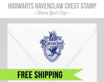 Hogwarts Ravenclaw Crest Stamp-Harry Potter-Wood Stamp-Rubber Stamp-Hogwarts Houses-Stationery-Ravenclaw Eagle Silhouette-Wizard-wedding