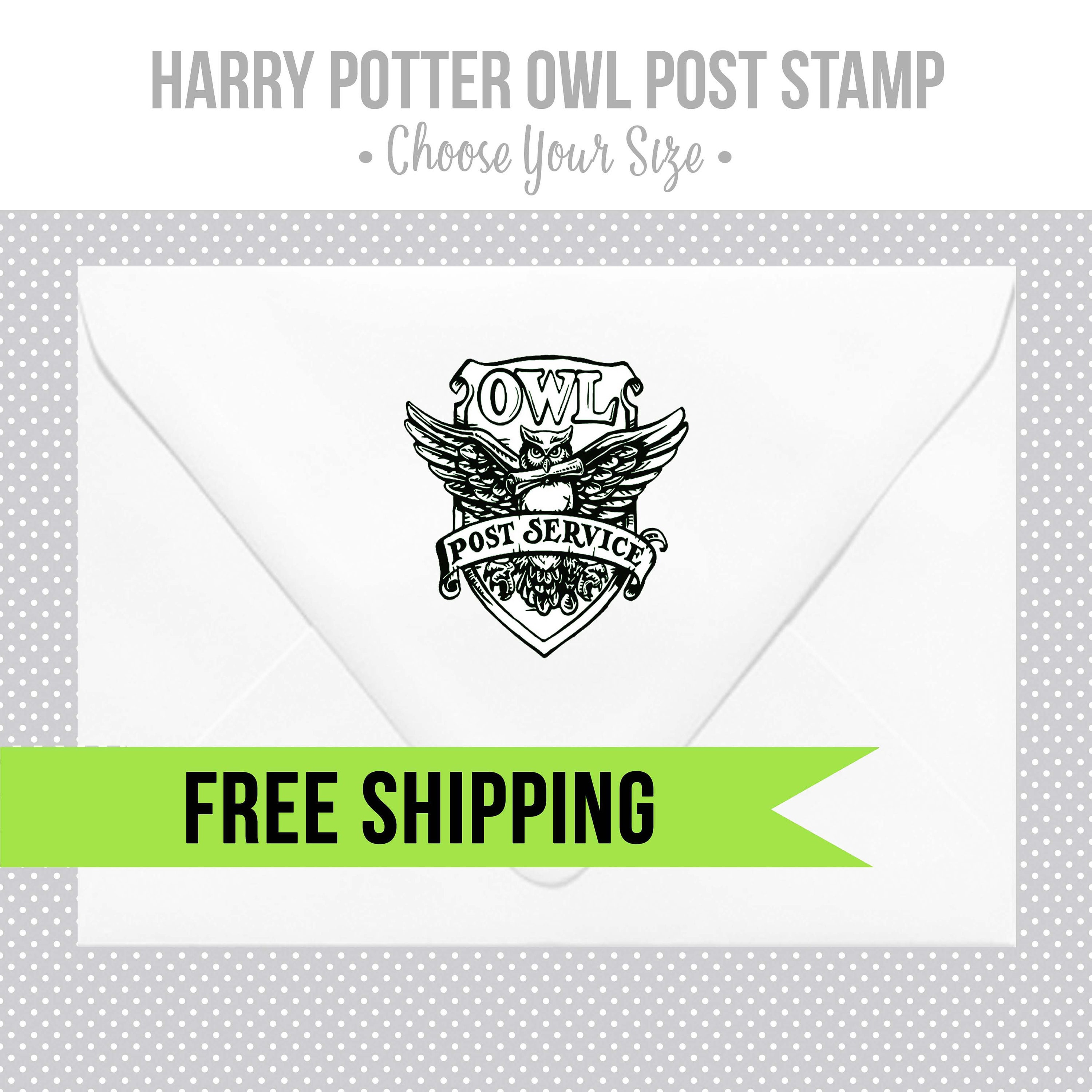 Hogwarts Owl Post Stamp Harry Potter Wood Rubber