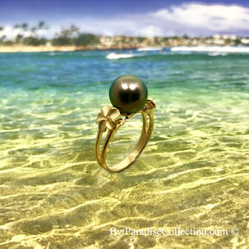 14kt Yellow Gold 6mm Plumeria Pearl Ring Setting R0091Y