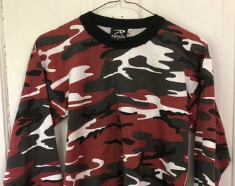eb743f20 Vintage Red Camo Long Scleeve