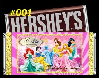 Princess Hersheys Wrapper - Hershey Label - Chocolate Wrapper - Princess Chocolat Wrapper - Princess Wrappers - Custom Printable Candy Label