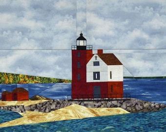 Round Island, MI Lighthouse quilt pattern - ON SALE