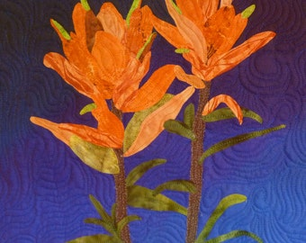 Indian Paintbrush quilt pattern - ON SALE