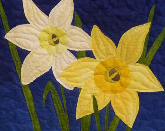 Daffodils quilt pattern - ON SALE