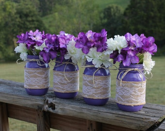Purple Wedding Decor Etsy