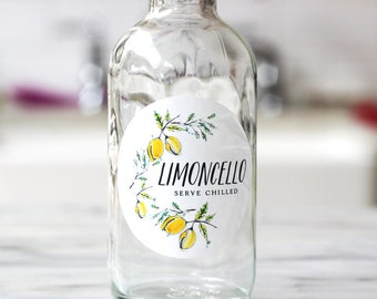 """Limoncello Labels, 2"""" Round Circles, Set of 12 or 18"""