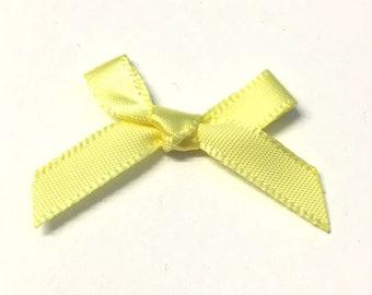 Ribbon Bows Craft Haberdashery Embellishments x 12 Assortment of shades
