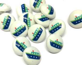8 or 10 Novelty 6 Buttons Nautical
