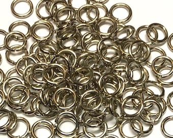 "5//8/"" 10PCs Silver Tone Stainless Steel OpenRings 15mm Findings"