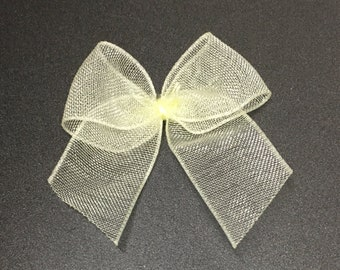 full roll of 100 yards lemongreen organza ribbon 22mm wide cards sewing wedding hair = only 16p per yard
