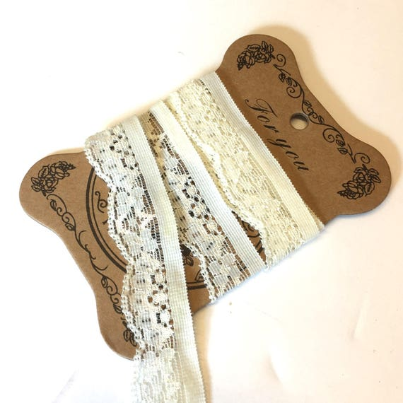 very light cream lingerie knicker elastic trim edging 5m x 13mm
