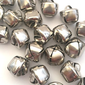 Jingle bells,Bronze metal bells,Christmas bells,50pcs Sleigh bells,Craft bells,14mm pet collar bell,Bell charm,Small bells,Thanksgiving Gift