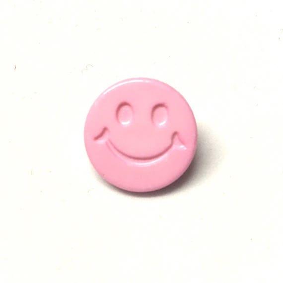 20 Ösenknöpfe Smiley Smile 20mm Kinderknöpfe