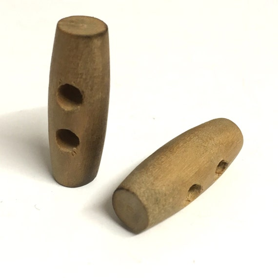 30mm Wooden Toggle and 25mm Wood Effect Button