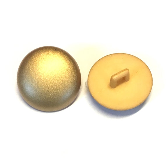 20 x 12mm gold shimmer plastic buttons with a rear shank