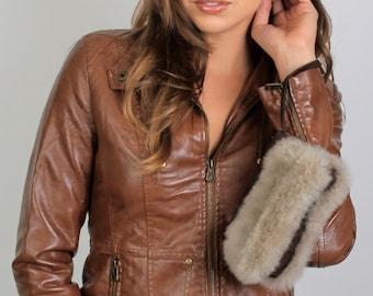 Wristlet - no kill fur alpaca, handbag, conscious fur, handmade, evening bag, fur handbag, tote, fluffy, w leather or suede, ethical