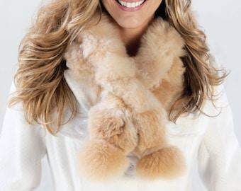 Braid Scarf Alpaca, alpaca scarf, no kill fur, fur scarf, natural fiber, Peru, adjustable scarf, neck muff, winter scarf, warm scarf, soft