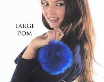 No-kill Fur Keychain Pom - alpaca, bag charm, fur pom, conscious fur, ethically sourced, handmade, fashion colors, silver gold chain