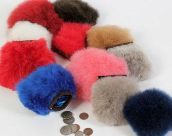 Fur Coin Purse - no kill fur alpaca, coin purse, fur bag, stash bag, money bag, conscious fur, guitl free, ethically sourced