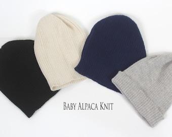 Baby alpaca knit caps, beanie, skull cap, hat, knit hat, watchman cap, winter hat, stocking cap, natural fiber hat, alpaca cap, alpaca hat
