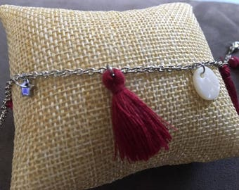 """Bracelet made of steel """"Star & Pearl."""