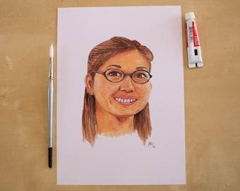 Lane Kim - Keiko Agena - Gilmore Girls -  Watercolour Portrait Print