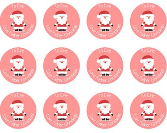 christmas stickers etsy