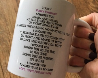 to my future husband mug, gift for husband on our wedding day, husband 11oz mug