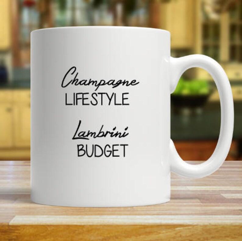Champagne Lifestyle Lambrini Budget Mug Birthday Gift Custom 11oz