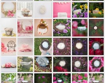 Multipack 70 digital Backdrops for newborn photography composites bundle