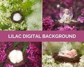 Lilac Digital Photo Backg...