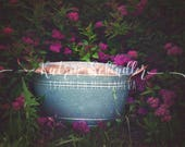 Moody Basket Lila with Fl...
