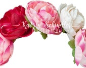 Flower Crown hat Peony  f...