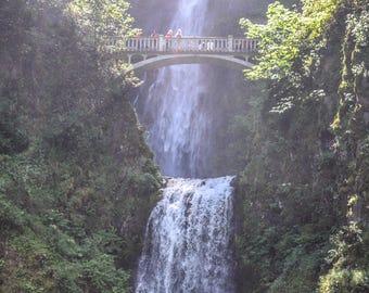 Multnomah Falls Scenic 8x10 Waterfall Picture Oregon