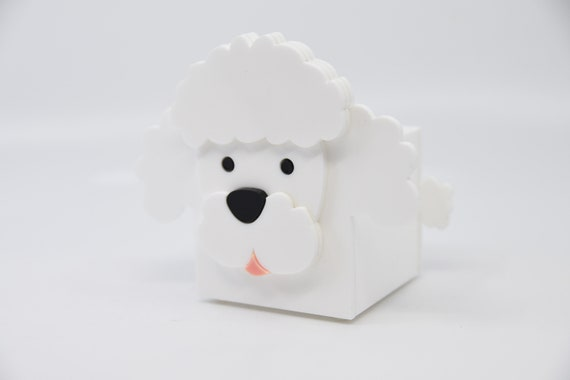 Poodle Planter Poodle Container Cute Desk Organization Containers Dog Container Laser Cut Kawaii Candle Holder Plant Holder