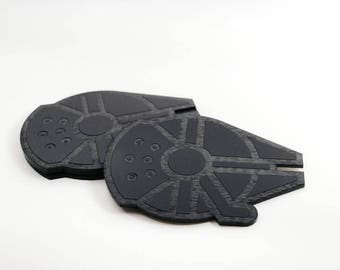 Star Wars Coasters!  Millennium Falcon Coasters - Star Wars Kitchen - Star Wars Home Decor - Star Wars Gift