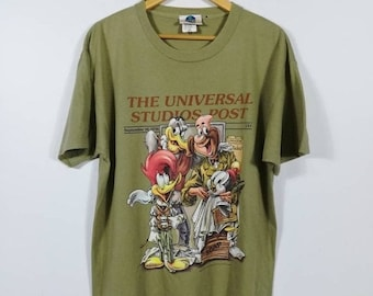 3fc42069a 25% Vintage 90s Woody Woodpecker And Friends Tshirt Warner Bros Size S/M