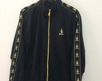 9d29f68c8ac SALE 30% Vintage 90s Jamaica Jacket Bob Marley Size M