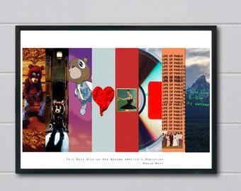 Custom Yeezy Album Cover Art Poster, Hypebeast Posters Prints, Pop Culture Poster Art, Ye Album Poster, Modern Pop Art  Wall Prints