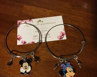 Mickey and Minnie bangle