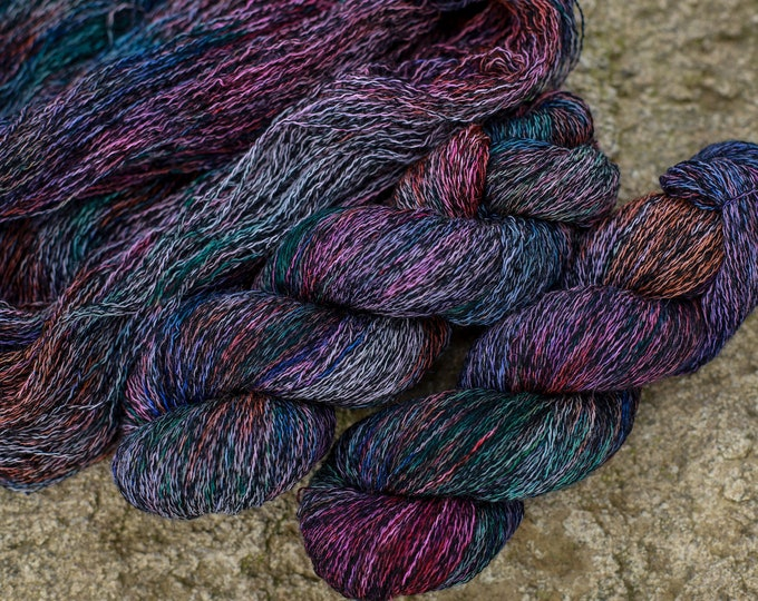 Handdyed SockYarn, Fingering Yarn mint, 75 wool 25 polyamide, sock yarn hand dyed, knitted wool 100g 3.5 oz