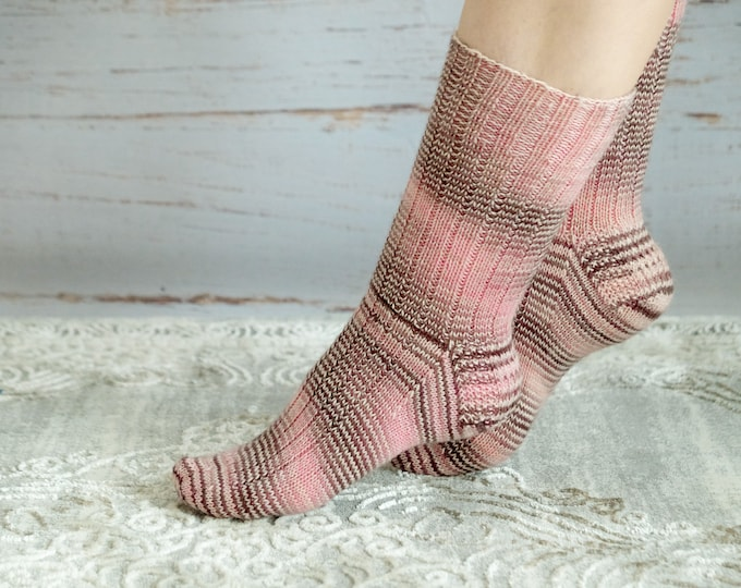 Socks hand dyed and hand knitted